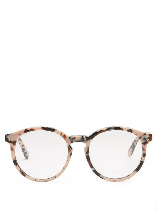 21551ebf1a2 Stella Mccartney 51Mm Tortoise Shell Round Optical Glasses In Pastel-Pink  And Brown Tortoiseshell