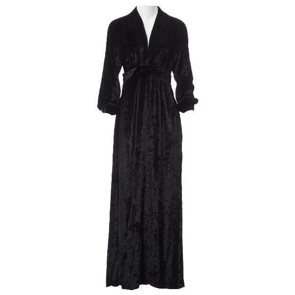 Vilshenko Black Velvet Dress
