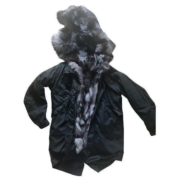 Barbed Black Fur Coat