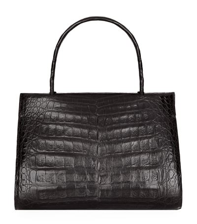 Nancy Gonzalez Small Wallis Crocodile Skin Tote In Green