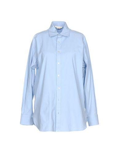 Pinko Solid Color Shirts & Blouses In Sky Blue