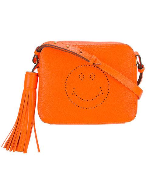 Anya Hindmarch Smiley Crossbody Bag In Orange
