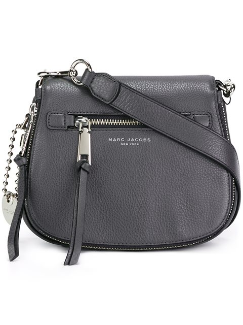 fb48081944d3 Marc Jacobs Recruit Nomad Pebbled Leather Crossbody Bag - Grey ...