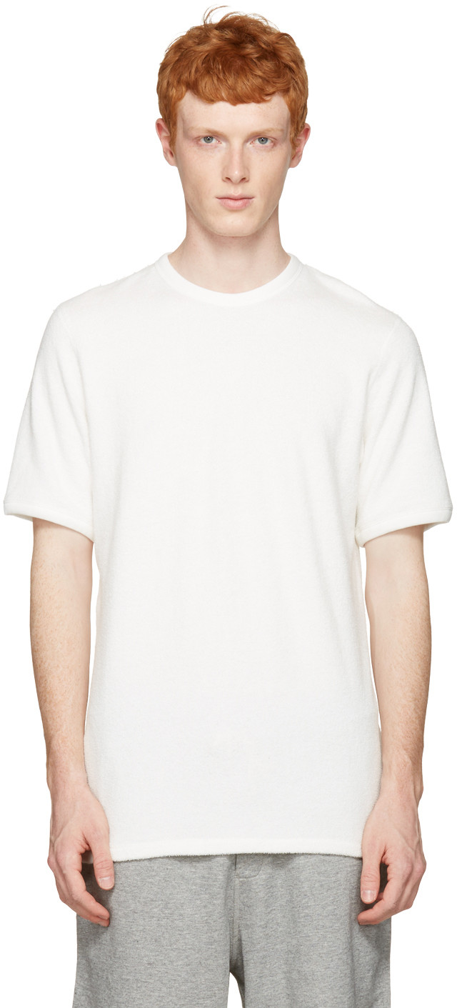 Rag & Bone Men's Double-knit Cotton T-shirt In White