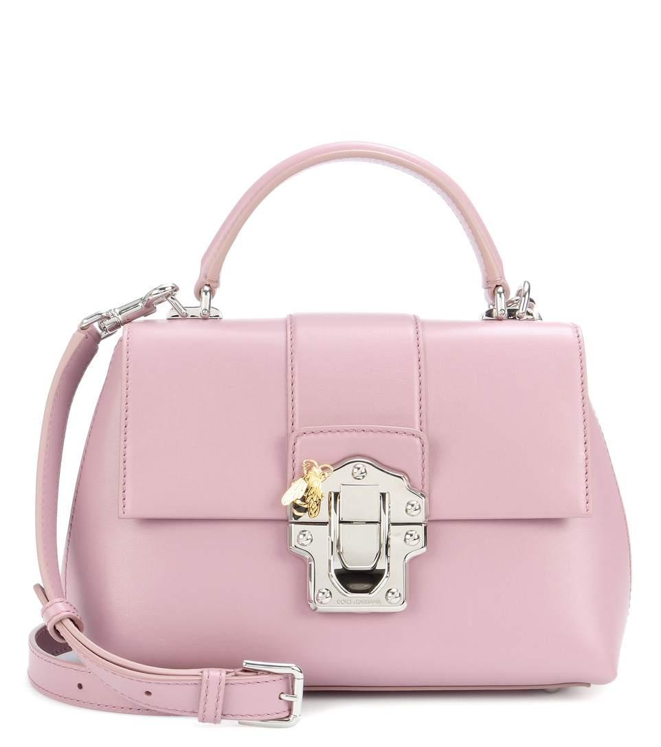 Dolce & Gabbana Lucia Leather Shoulder Bag In Pink