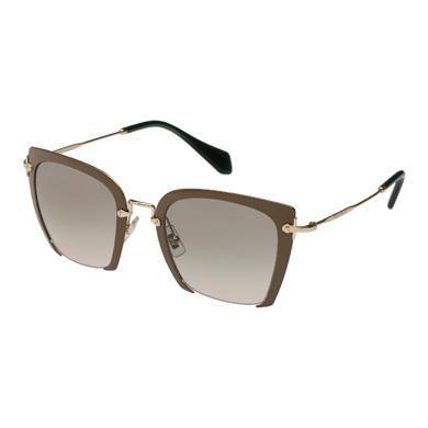 Miu Miu Rasoir Square Frame Eyewear In Camouflage Gradient Aviator Blue Lenses