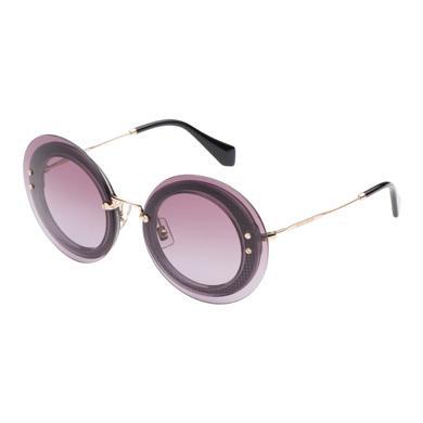 Miu Miu Round  Reveal Eyewear In Purple Gradient Lenses
