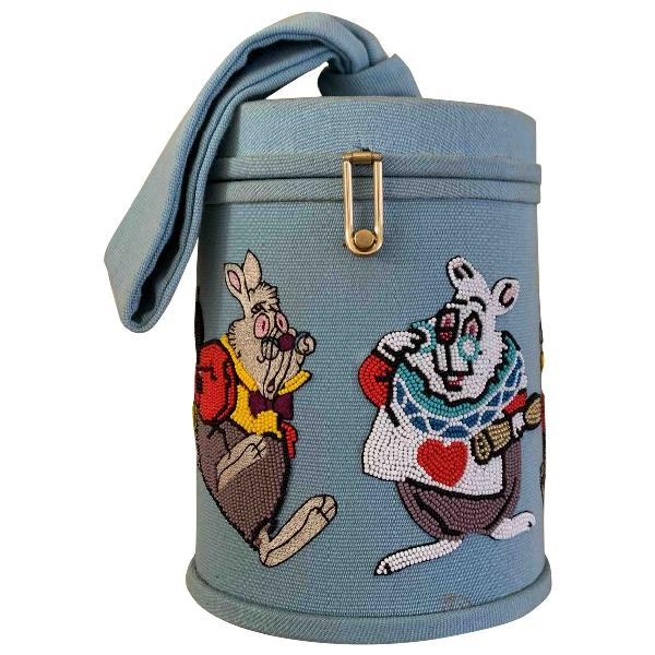 Olympia Le-tan Blue Cotton Handbag