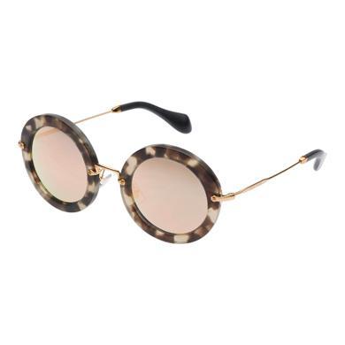 Miu Miu Noir Eyewear With Glitter In Rose Gold Lenses