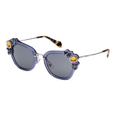 Miu Miu Fw '16 Runway Sunglasses In Slate Gray Lenses
