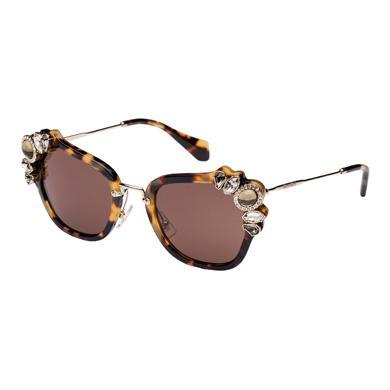 Miu Miu Fw '16 Runway Sunglasses In Sienna