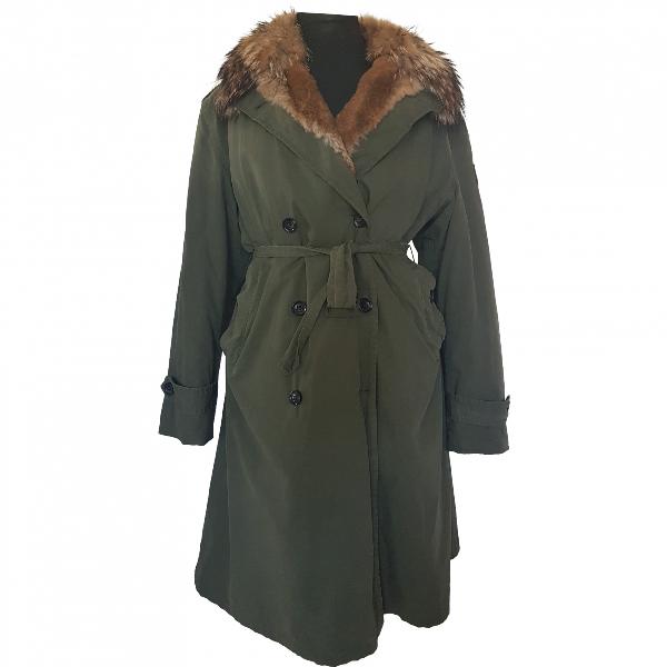 Barbed Khaki Cotton Coat