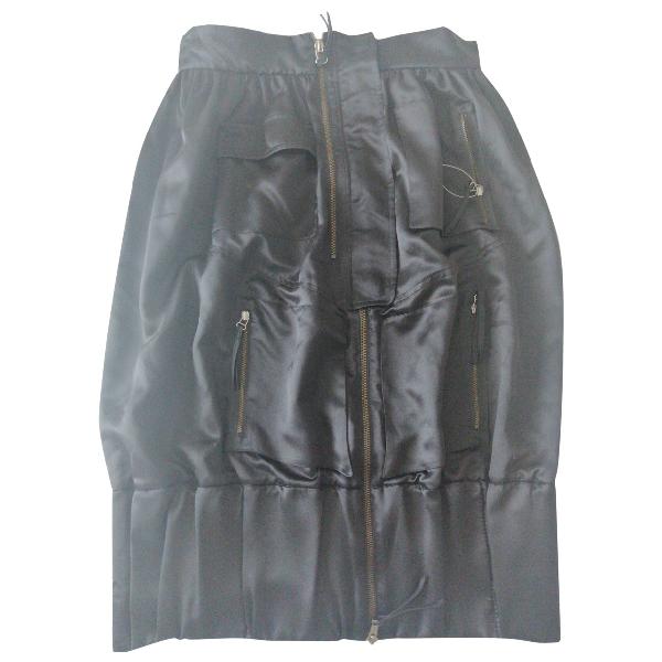 Roberto Capucci Black Silk Skirt