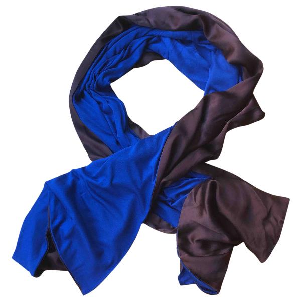 Pierre-louis Mascia Blue Silk Scarf