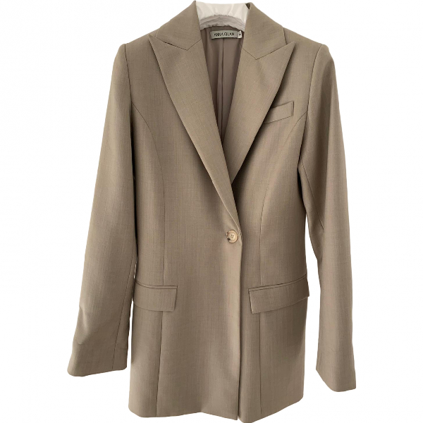 Anna Quan Beige Wool Jacket