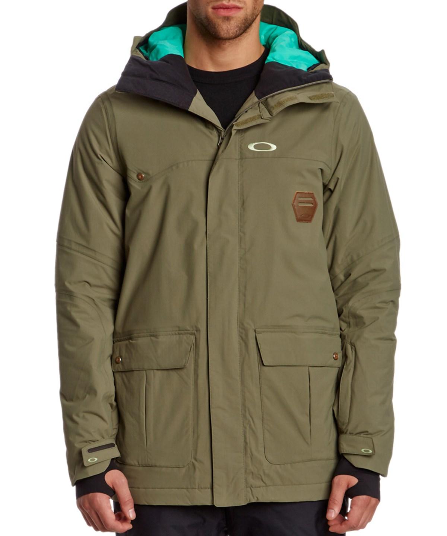 Oakley Westend Hooded Worn Olive Jacket In Green