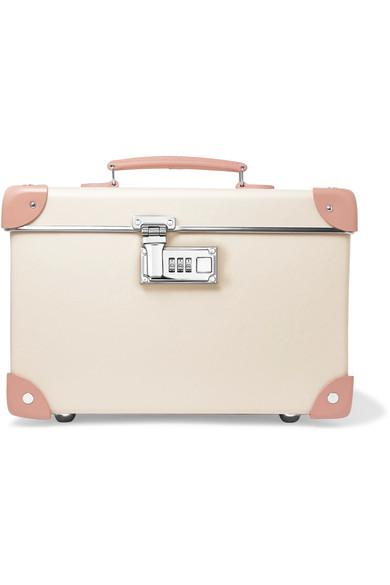 """Globe-trotter Centenary 13"""" Leather-trimmed Fiberboard Vanity Case In Ivory/natural"""