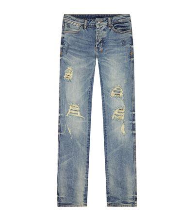 Ksubi Van Winkle Dynamite Skinny Jeans In Blue