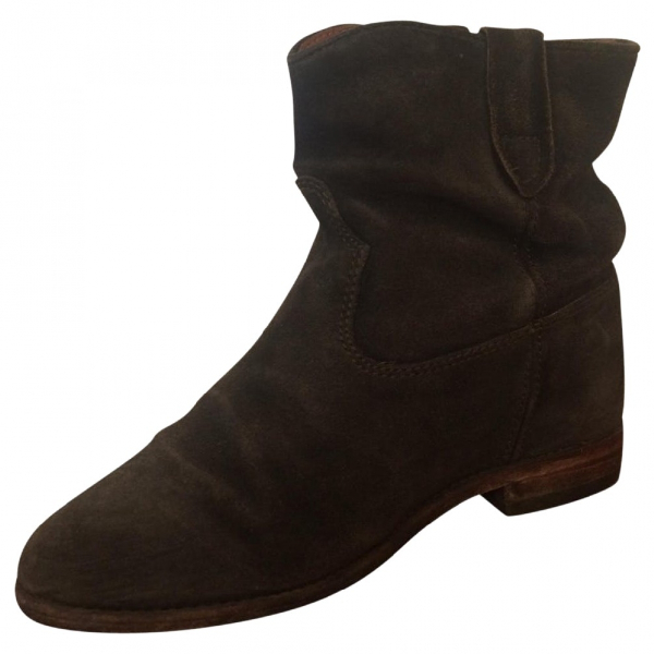 Isabel Marant Crisi  Black Suede Ankle Boots