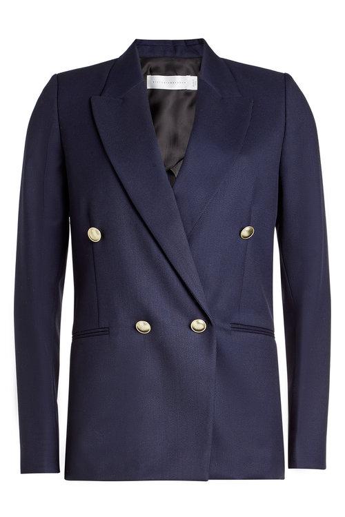 Victoria Beckham Wool Blazer In Blue