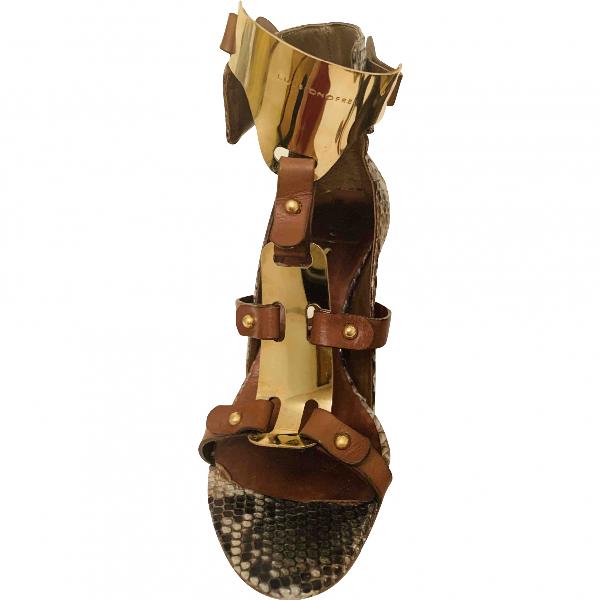 Luis Onofre Multicolour Python Sandals