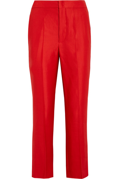 Isabel Marant Woman Satin-crepe Staight-leg Pants Red