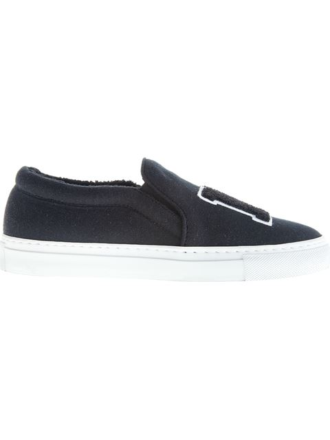Joshua Sanders Ny Slip On Sneakers In Black