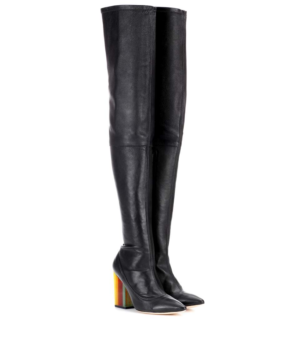 Zimmermann Leather Over-the-knee Boots In Black