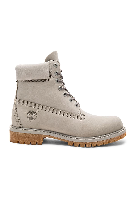 "Timberland 6"" Premium Waterproof Hiking Boot, Flint Gray In Flint Grey Waterbuck"