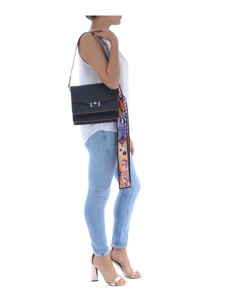 Paula Cademartori Twiggy Shoulder Bag In Blu Notte