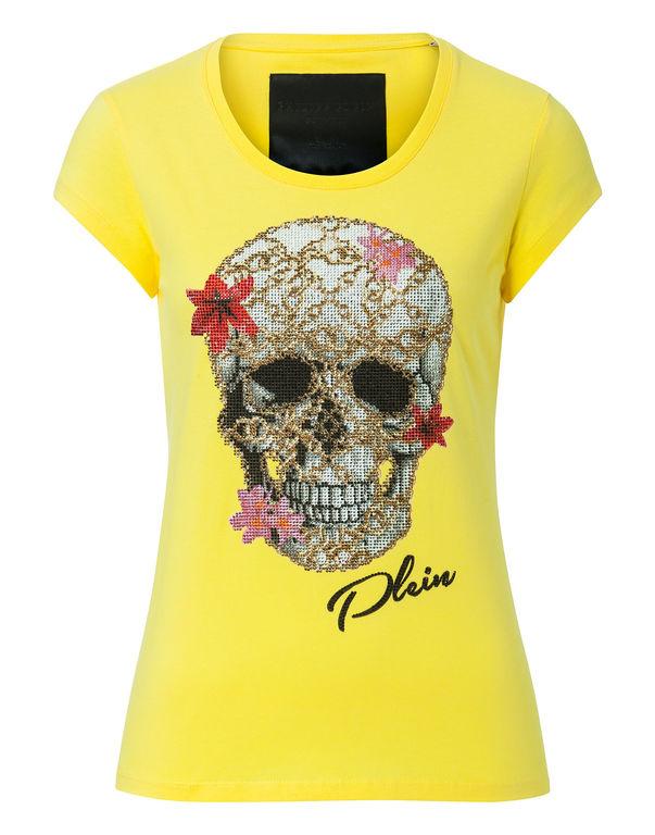 """Philipp Plein T-shirt Round Neck Ss """"flowery"""""""