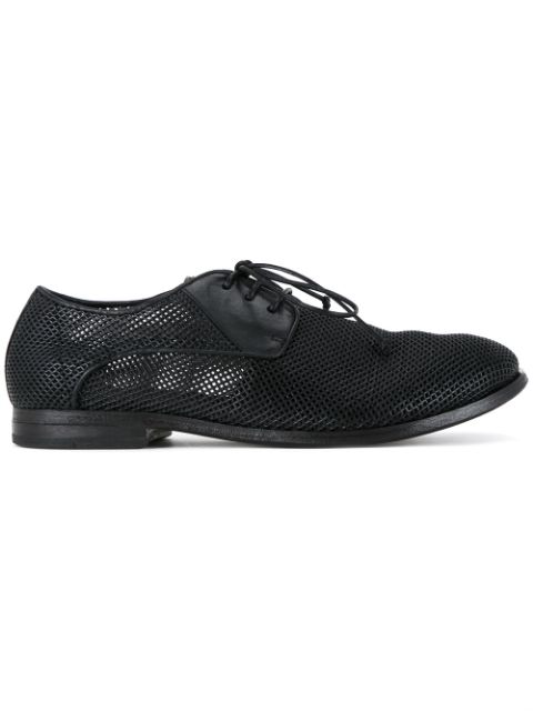 MarsÈll Perforated Derby Shoes In Black