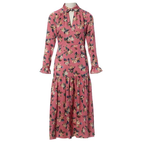 Vilshenko Pink Silk Dress