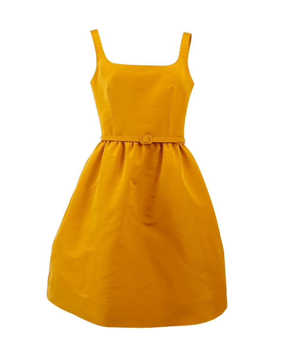 Oscar De La Renta Belted Dress In Sunflwr
