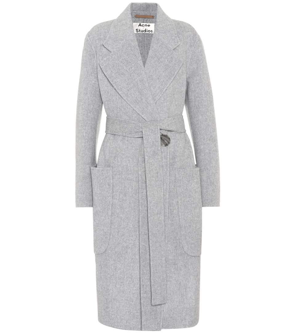 Acne Studios 'lova' Belted Long Wool-cashmere Felt Coat In Female