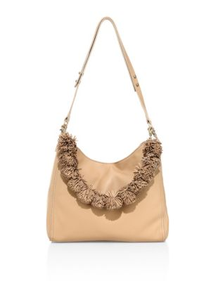 Loeffler Randall Mini Leather Hobo Bag In Natural