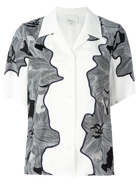 3.1 Phillip Lim Surf Floral Shirt In White