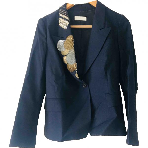 Dries Van Noten Navy Wool Jacket