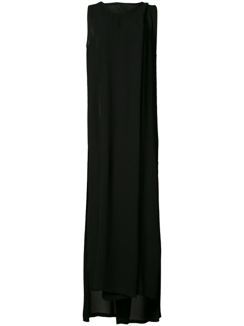 Ann Demeulemeester Slit Leg Evening Dress - Black
