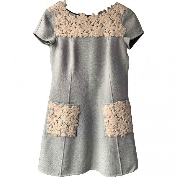 Luisa Beccaria Blue Wool Dress