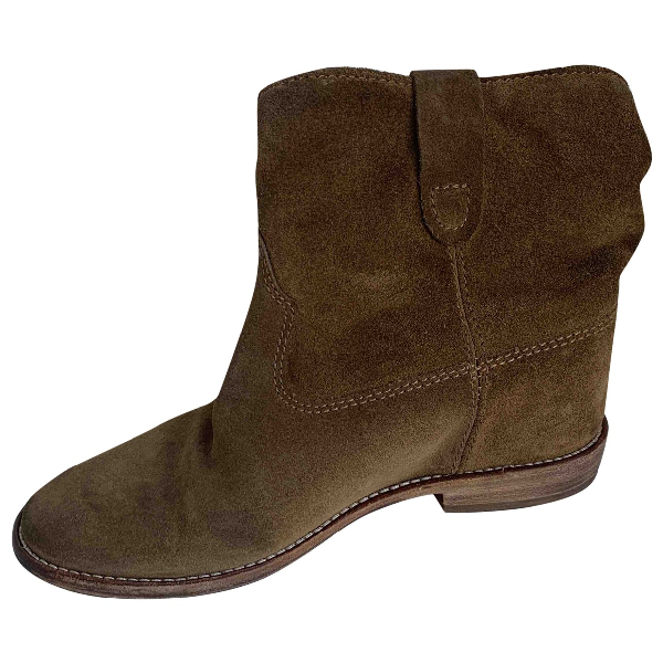 Isabel Marant Crisi  Ecru Leather Ankle Boots