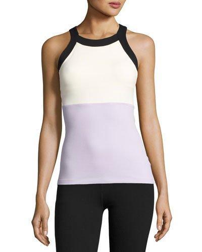 Beyond Yoga X Kate Spade New York Blocked Band Racer Tank, Lilac Charm In Purple/white