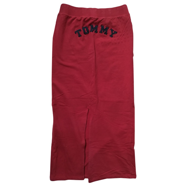Tommy Hilfiger Red Cotton Skirt