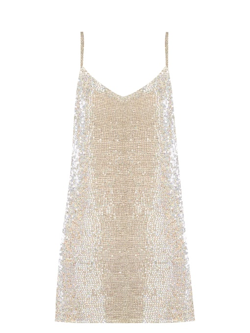 Ashish Bead-embellished Silk-georgette Mini Dress In White