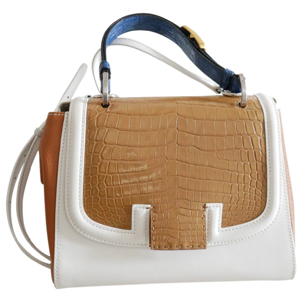 Fendi Silvana Multicolour Crocodile Handbag