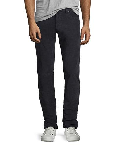 Frame L'homme Straight-leg Corduroy Pants In Charcoal