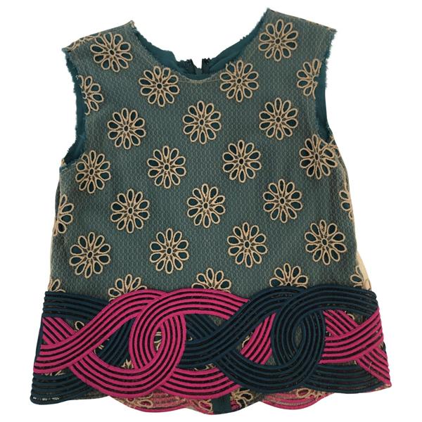 Rodarte Multicolour Silk  Top
