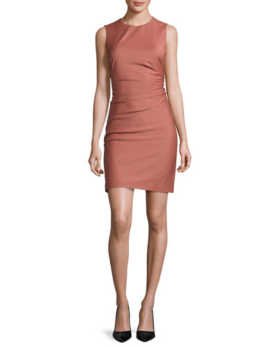 Theory Jorianna Continuous Stretch Sheath Dress, Pink