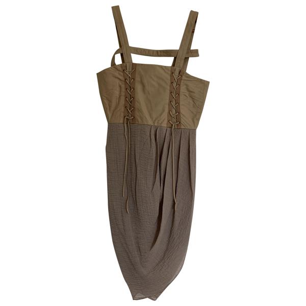 Rodarte Beige Leather Dress
