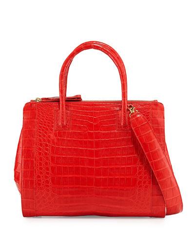 3222ddd761e0b Nancy Gonzalez Crocodile Large Double-Zip Tote Bag In Red Matte ...